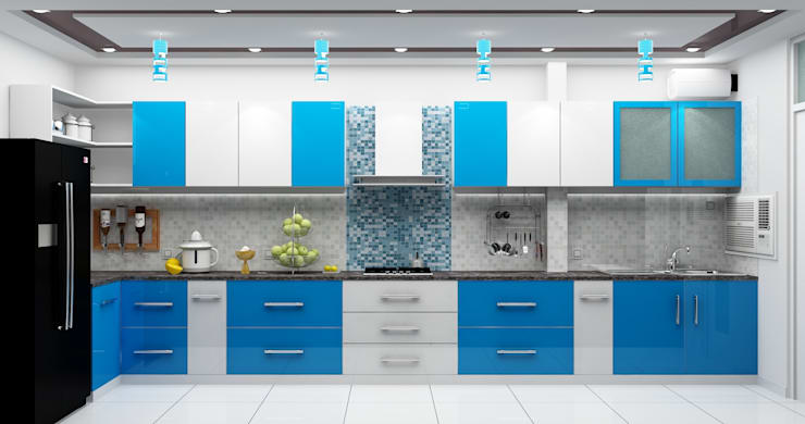 Kitchen:   by Universal Pride Interiors Pvt. Ltd.