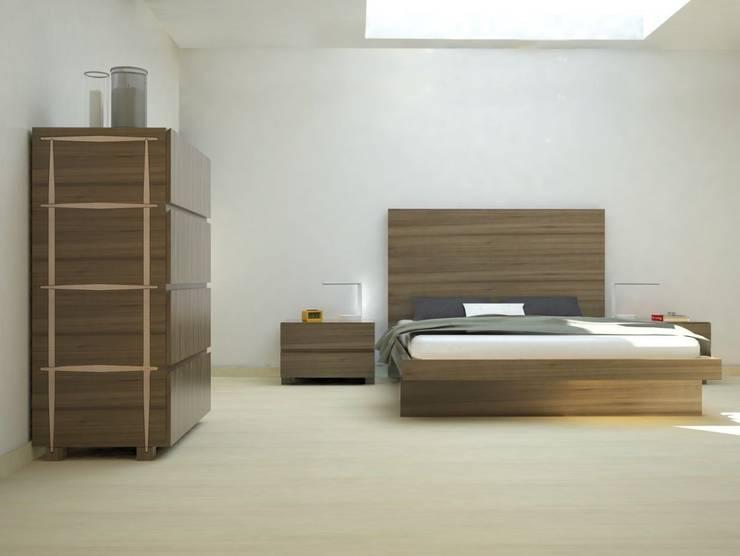 Cama Moderna Lenervo: Dormitorios de estilo  de Ámbar Muebles