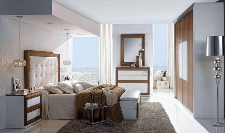 Cabezal Saphire Tapizado: Dormitorios de estilo  de Ámbar Muebles