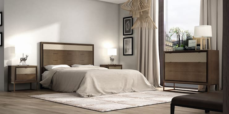 Cabecero Moderno Soleil: Dormitorios de estilo  de Ámbar Muebles