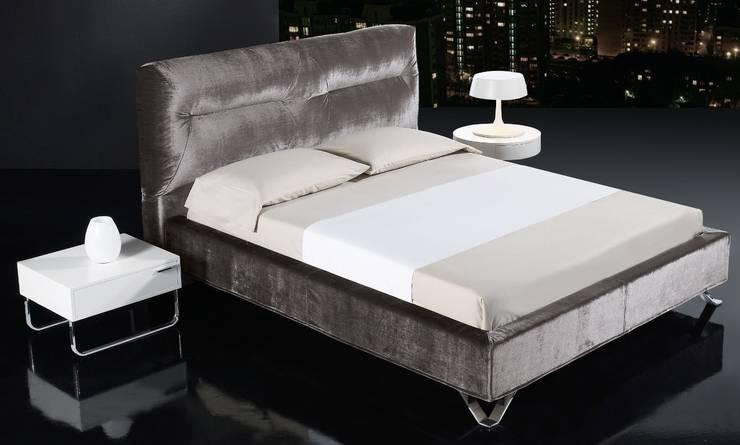 Cama de Diseño Tapizada Globe: Dormitorios de estilo  de Ámbar Muebles