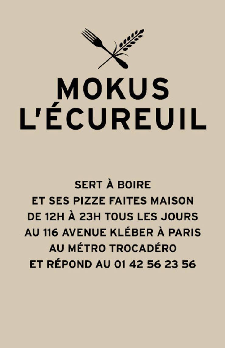 Mokus L'Ecureuil carte de visite:  de style  par Pierre Leon LUNEAU