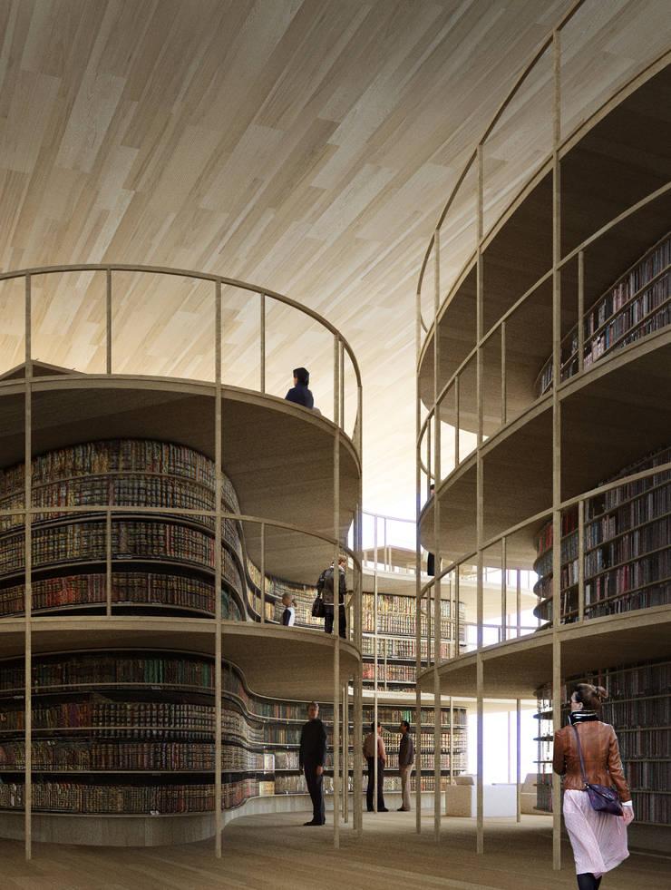 bibliothèque centrale d'Helsinki:  de style  par MARS architectes