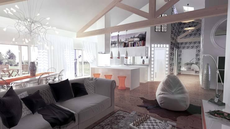 villa saint jeannet: Salon de style  par AAA
