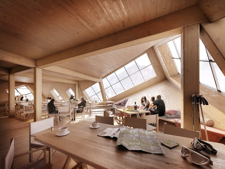 SUSTAINABLE PASSIVE MOUNTAIN HUT IN THE HIGH TATRAS:  Houses by ATELIER 8000