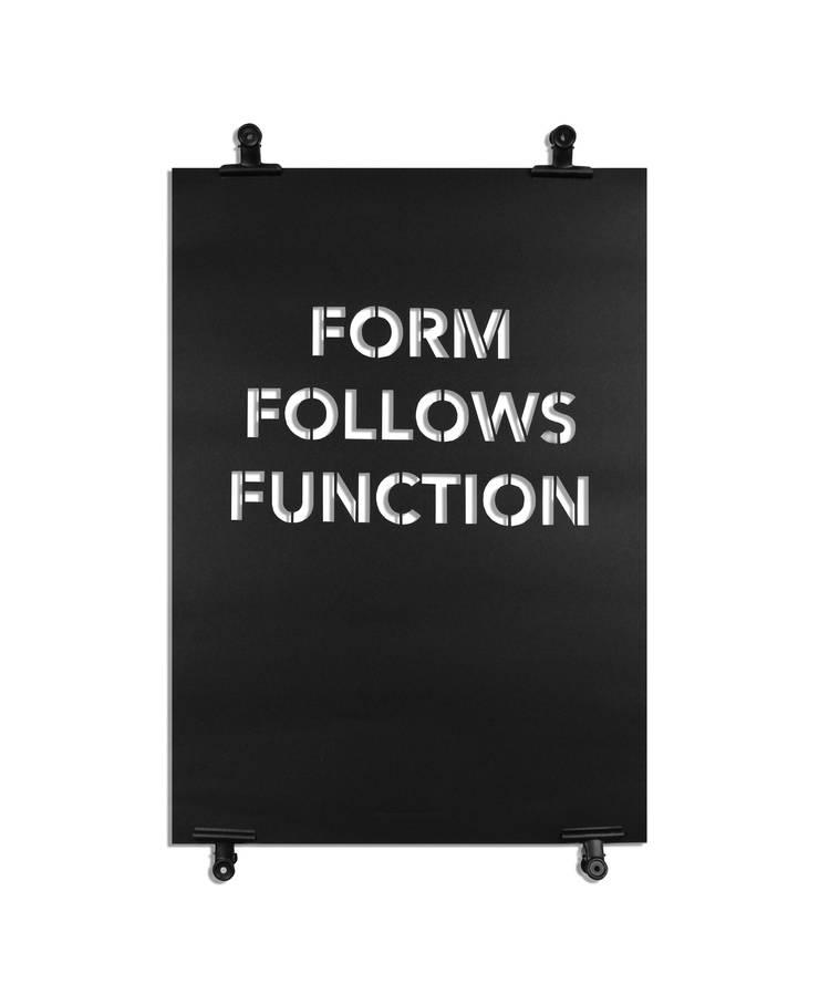 Affiche Form Follows Function: Art de style  par Agence A24COM