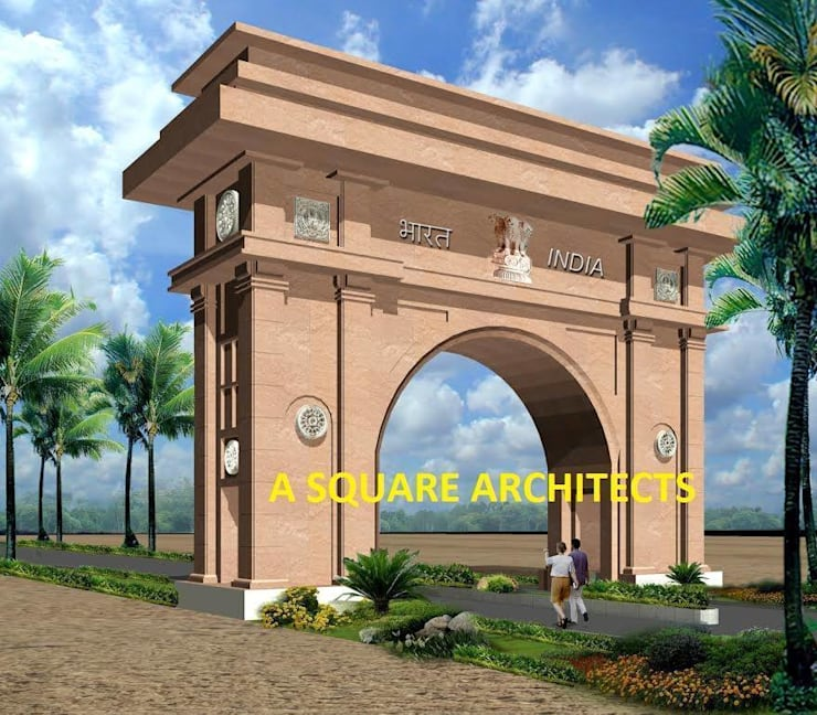 india gate:   by A Square Architects