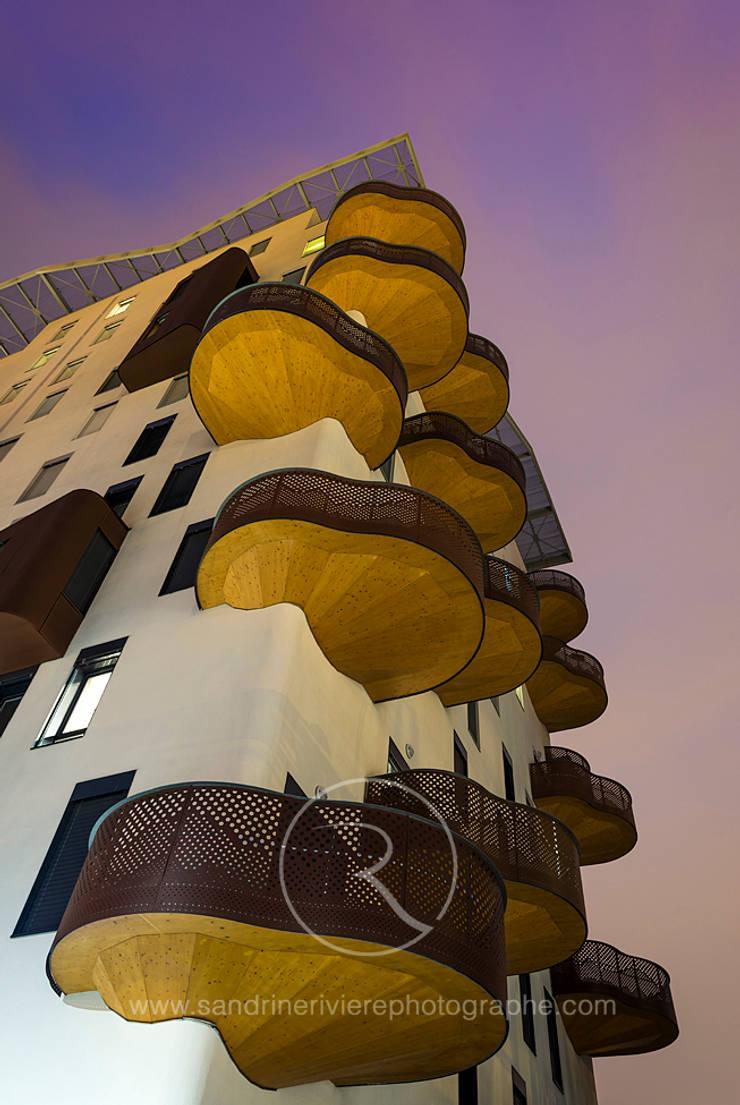 Projet Jean-Paul Roda Architecte: Terrasse de style  par Sandrine RIVIERE Photographie