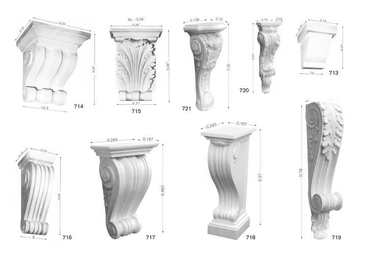 MOLDURAS  Y ACCESORIOS DECORATIVOS.: Paredes y suelos de estilo  de Básico Veneciano,Arte Decorativo