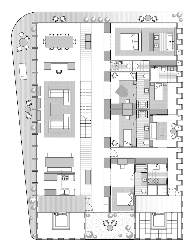 Lofts à Lima - Plan appartement type 2:  de style  par Aude Morgenthaler
