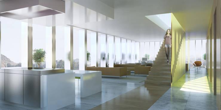 Lofts à Lima - Cuisine, salle à manger et séjour:  de style  par Aude Morgenthaler