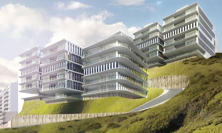 Lofts à Lima - Façades principales:  de style  par Aude Morgenthaler