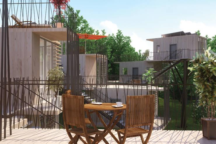 Tree houses: Terrasse de style  par Pepindebanane