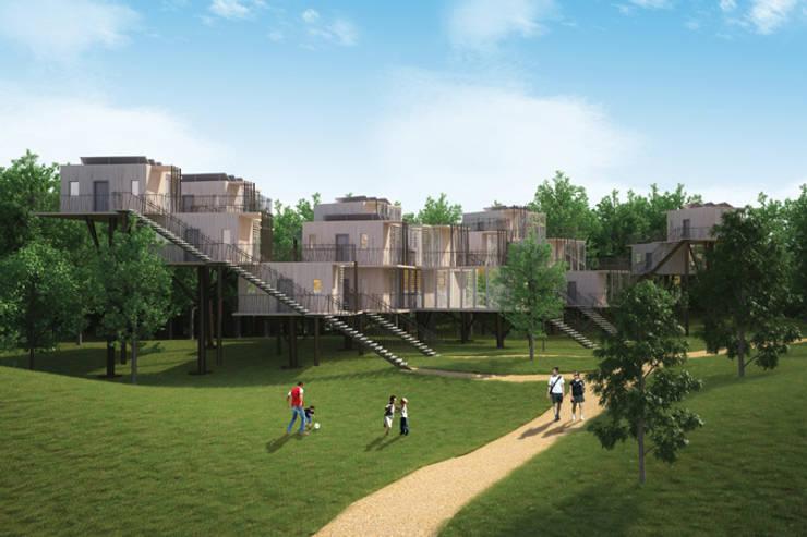 Tree houses: Maisons de style  par Pepindebanane