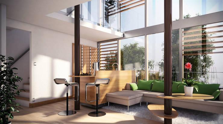 Tree house: Salon de style  par Pepindebanane