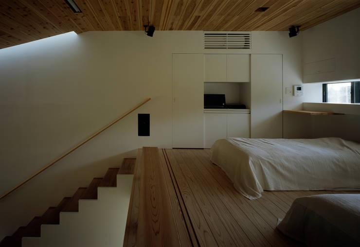 鋸南の家: 石井秀樹建築設計事務所が手掛けた寝室です。