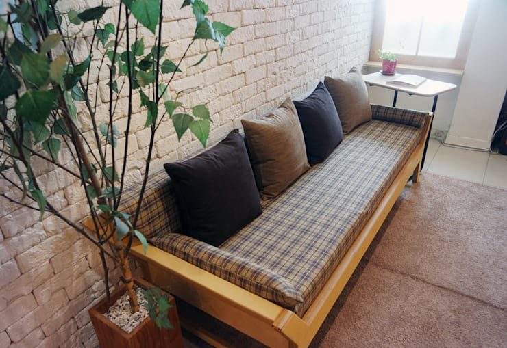 N.E fabric bench: Design-namu의  거실