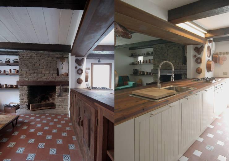 mountain house: Case in stile  di Fabio Azzolina Architetto, Rustico
