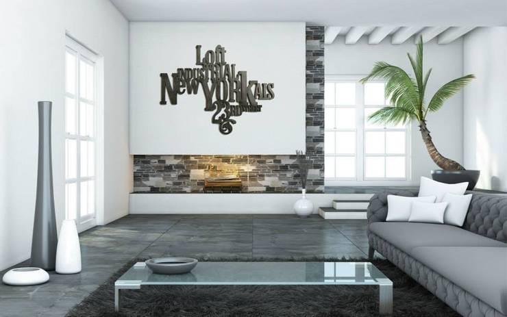 DECORATION MURALE : Salon de style  par SAINT YORK DESIGN