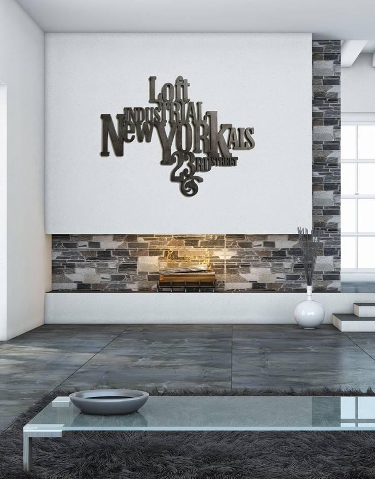 DECORATION MURALE: Salon de style  par SAINT YORK DESIGN