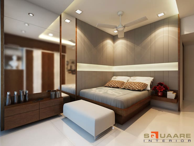Bedroom:   by Squaare Interior