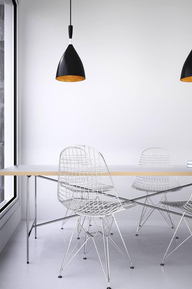 White interior: Salon de style  par GC Studio