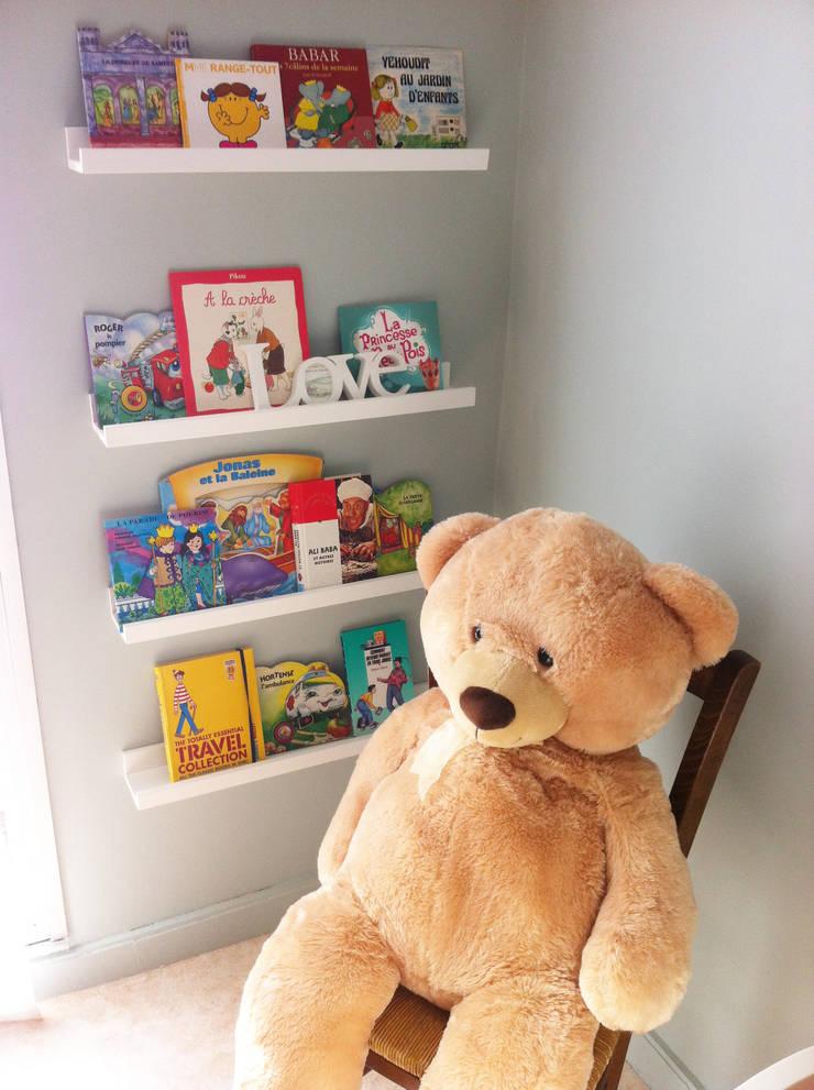 Le bibliothécaire !: Chambre d'enfant de style  par Judith Wolff Architecte d'intérieur