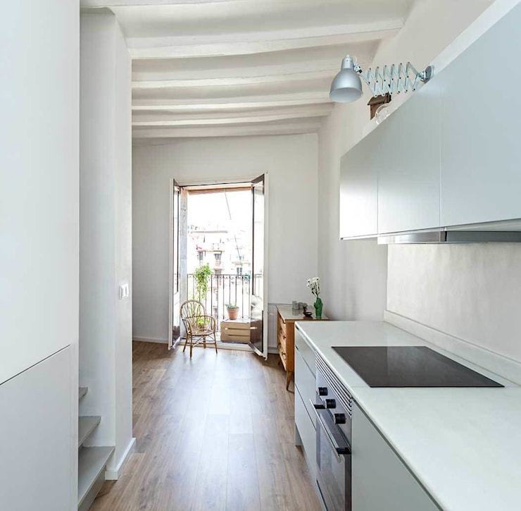 Cocina: Casas de estilo  de ACABADOMATE