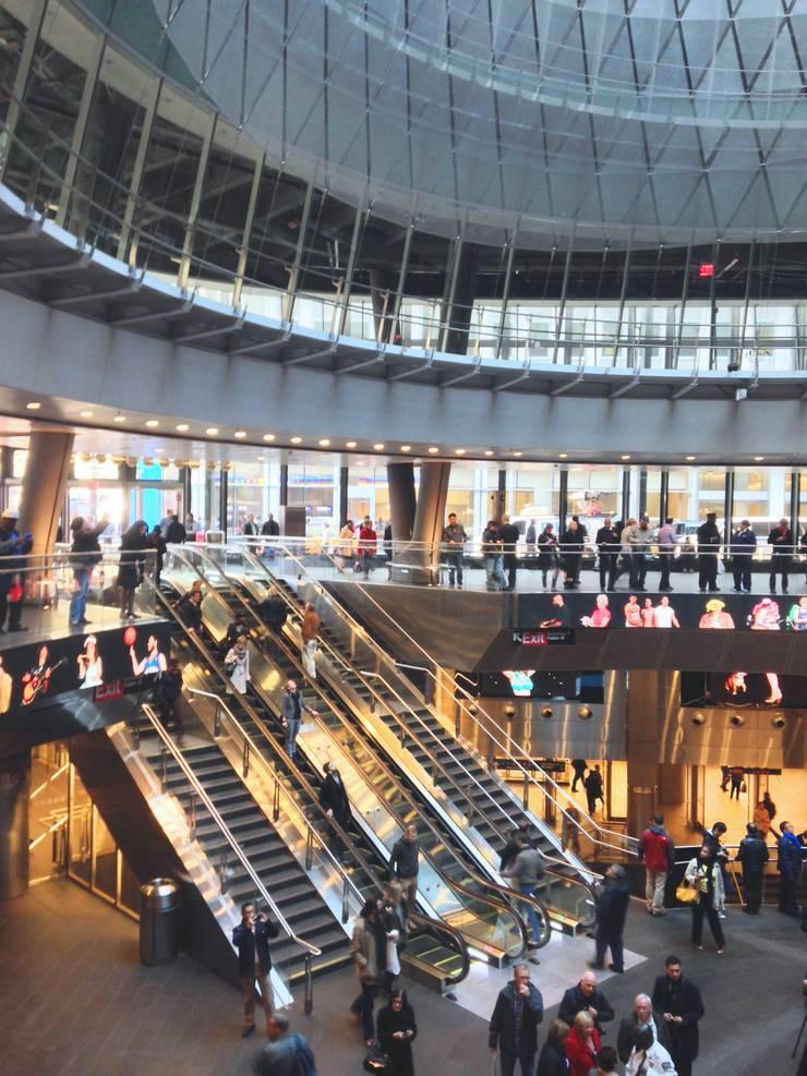 Fulton Center transit hub:   by Grimshaw Architects