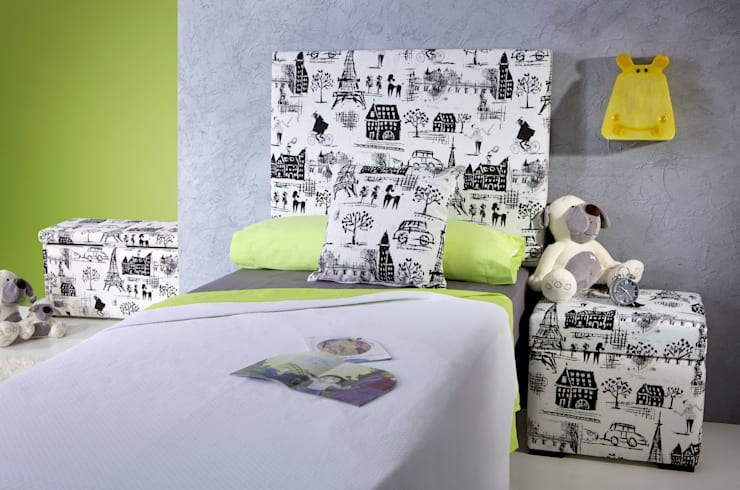 Dormitorio Infantil - Juvenil París : Habitaciones infantiles de estilo  de 1 TAPIZA S.L.