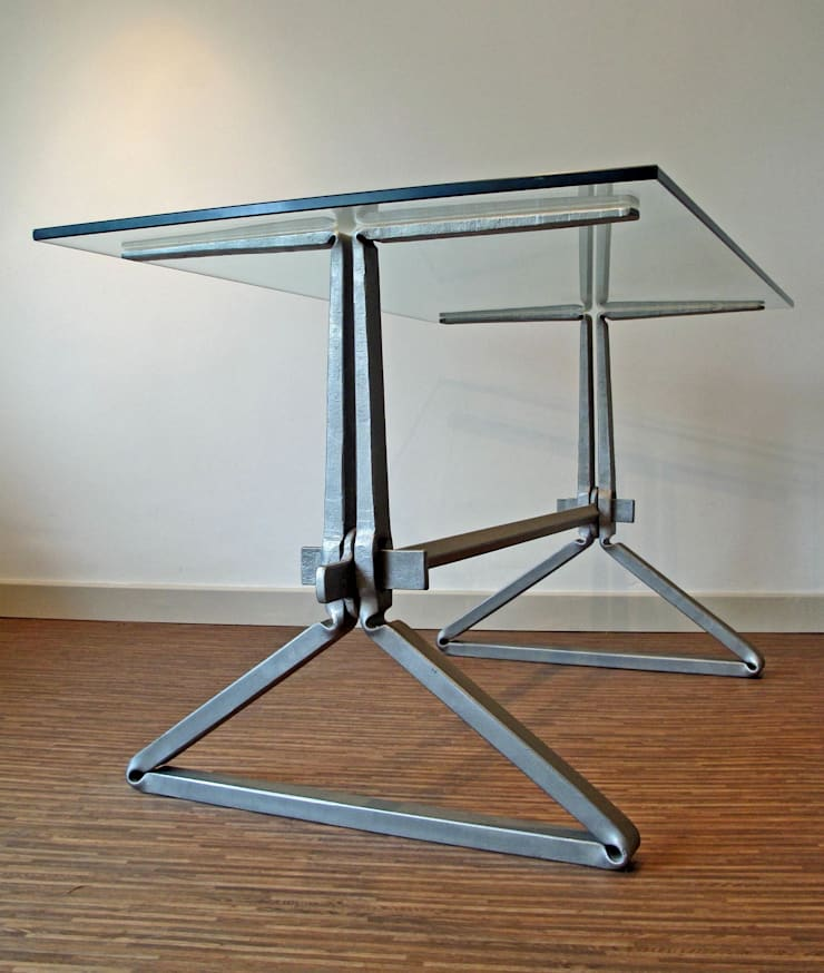Wedge table:  Study/office by James Price Blacksmith and Designer