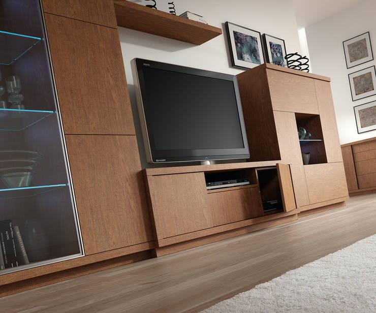 Muebles para la Televisión: Comedor de estilo  de Baixmoduls