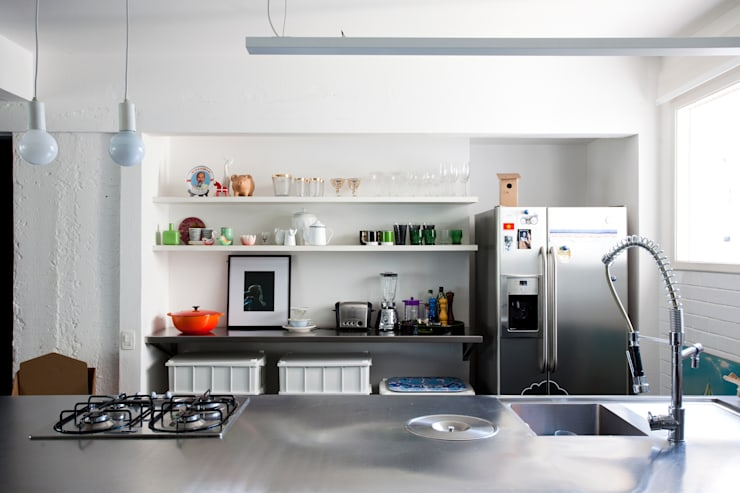 eclectic Kitchen by Mauricio Arruda Design