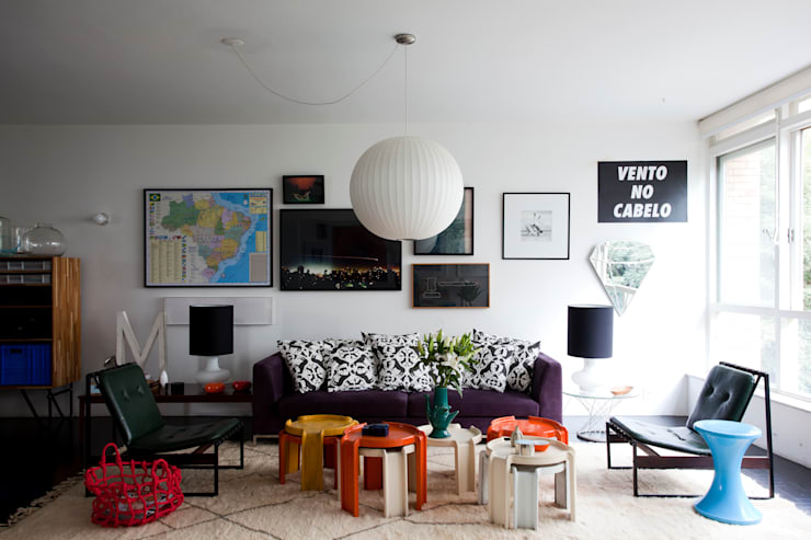 eclectic Living room by Mauricio Arruda Design