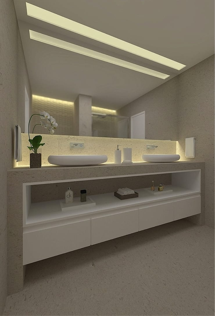 Beach Flat :  Bathroom by Robson Martins Interior Design