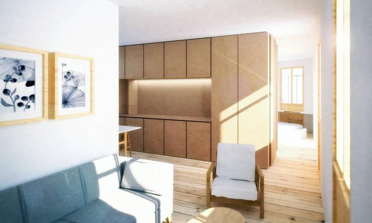 propuesta A: Casas de estilo  de *escribanorosique arquitectos
