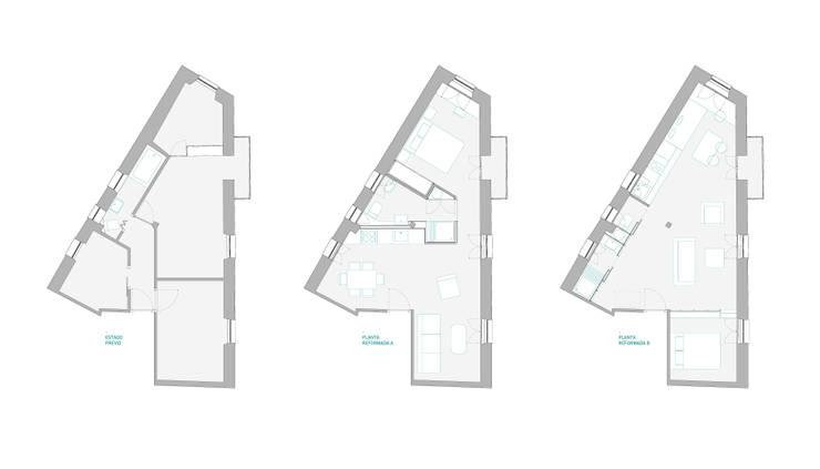 plantas: Casas de estilo  de *escribanorosique arquitectos
