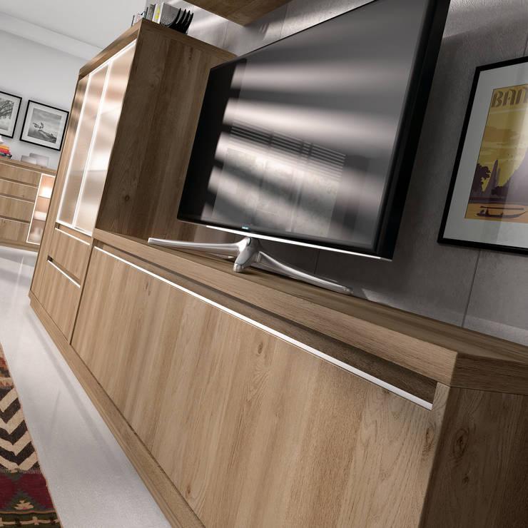 Muebles para la Television y Paneles TV: Comedor de estilo  de Baixmoduls