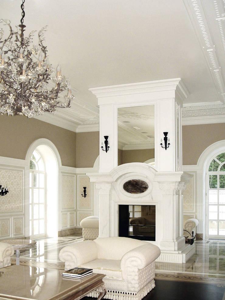 Luxury Design – Ville – Private Residence: Soggiorno in stile  di DECORMARMI SRL