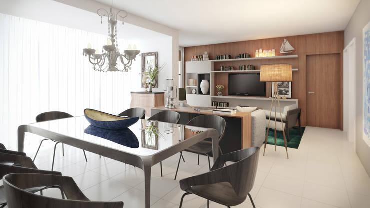 APTO VM Salas de jantar modernas por AF Arquitetura Moderno