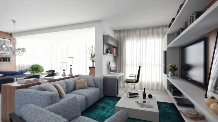 APTO VM Salas de estar modernas por AF Arquitetura Moderno
