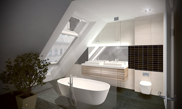 Bathroom by Hofmann Architekten ZT GmbH