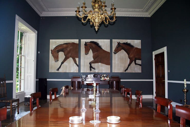 Homes In-situ animal paintings by Thierry Bisch: Salon de style  par Thierry Bisch - Peintre animalier  - Animal Painter