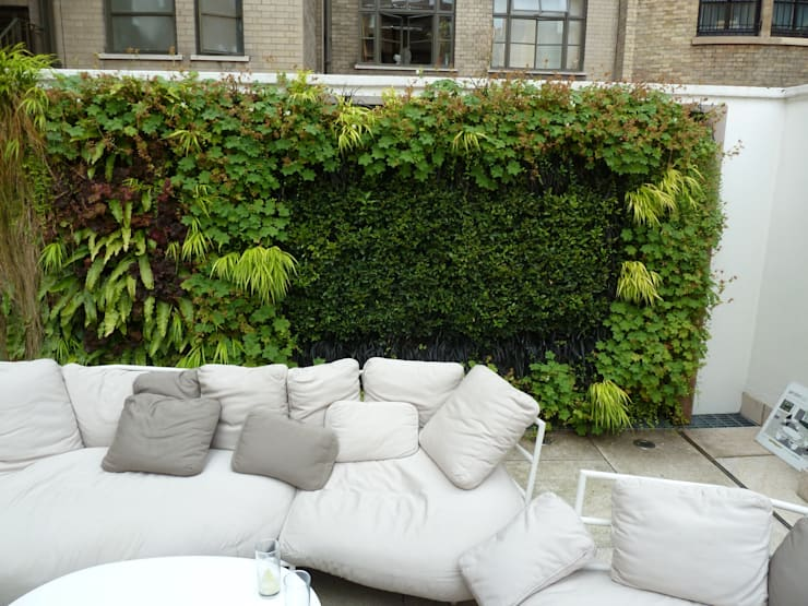 RIBA Roof Terrace, Portland Place:  Balconies, verandas & terraces  by Biotecture