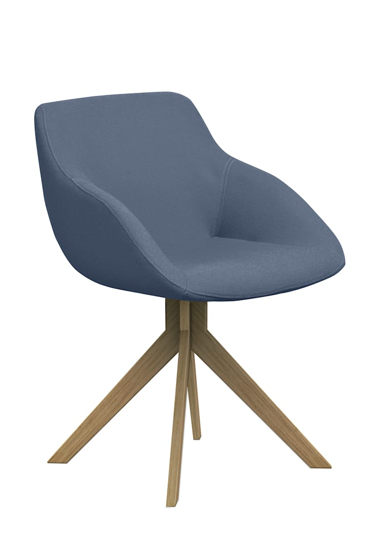 Palau conference chair Blue: moderne Woonkamer door Palau