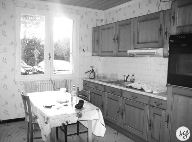 Rénovation d'une maison des années 70 Maisons industrielles par Sarah Gautreau Industriel
