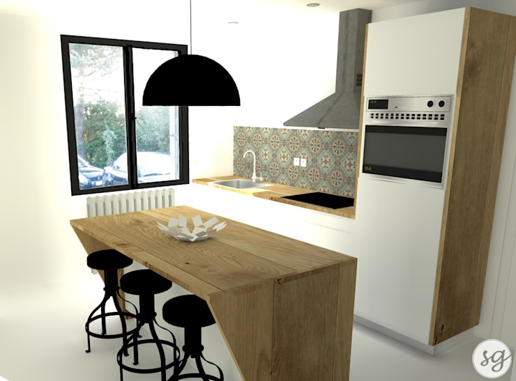 R novation d 39 une maison des ann es 70 par sarah gautreau homify - Livre renovation maison ...