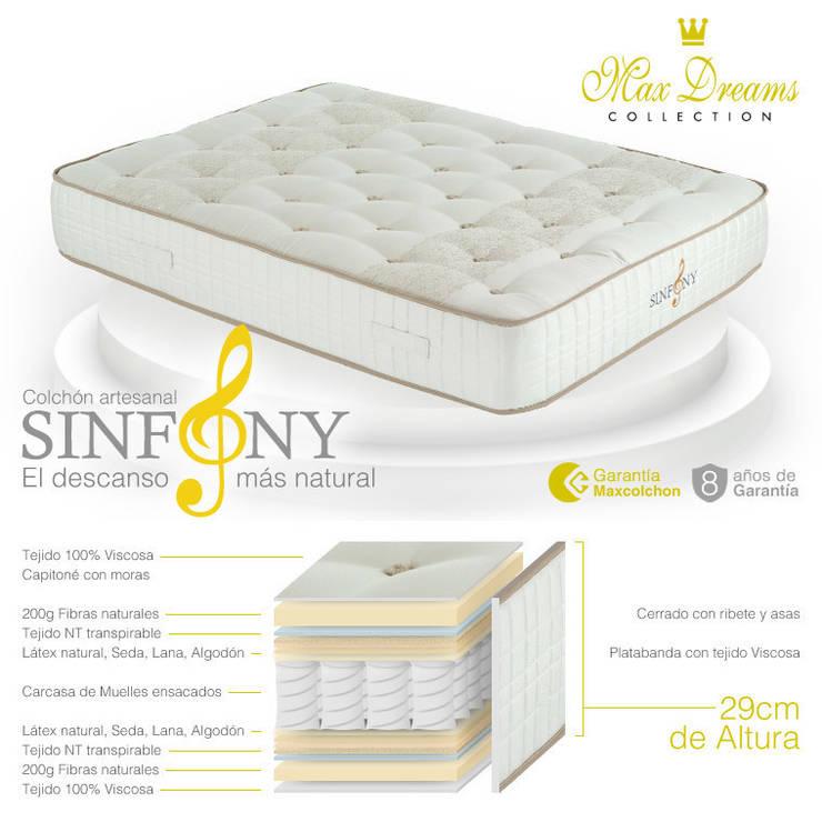 Colchon Sinfony: Dormitorios de estilo  de Maxcolchon
