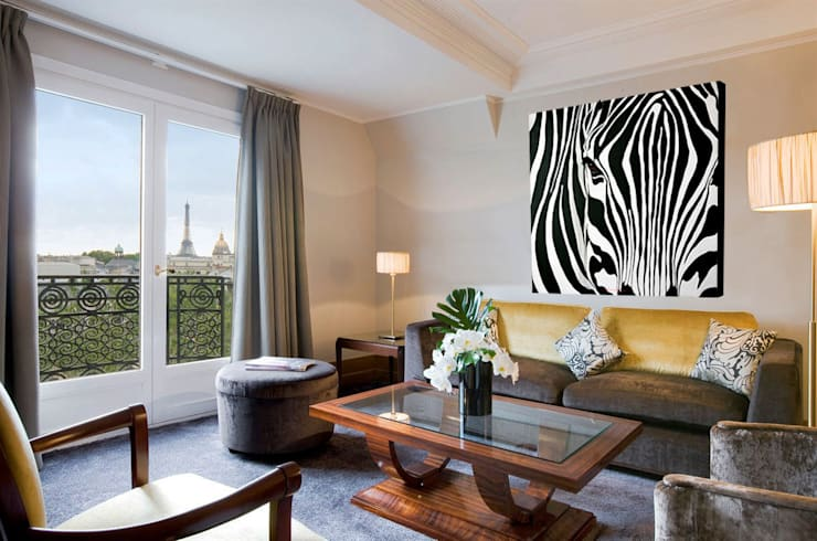 Zebra: Salon de style  par Thierry Bisch - Peintre animalier  - Animal Painter