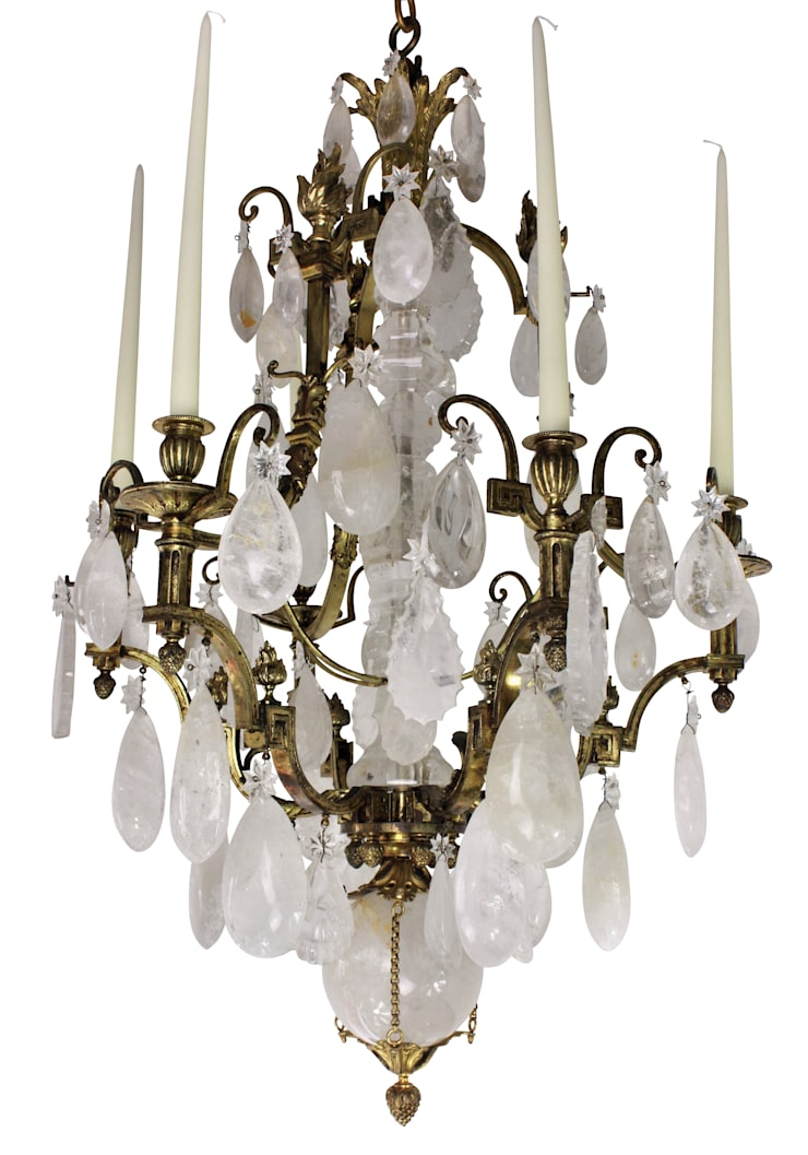 A Stunning 19th Century Russian Rock Crystal Chandelier:  Household by Antiques, Lighting and The Interior